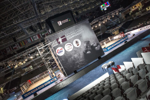 DOUBLE ACTION: Until the quarter-finals from 10 October onwards, there will be two boxing rings set up in the arena, which means you can follow two bouts at the same time.