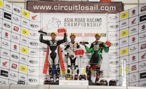SuperSports 600cc Race 1 Podium - P1 Yuki Takahashi P2 Jakkrit Swangswat P3 Yudhistira
