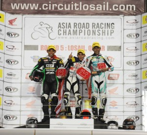 Underbone 130cc podium - P1 Amirul Ariff Musa P2 Gupita Kresna P3 Azam Omar