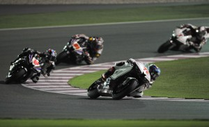 Yuki Takahashi 72 leading the SuperSports 600cc race in Qatar
